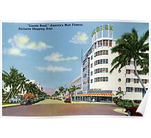 Fifties style Miami Lincoln road Exclusive shopping Poster