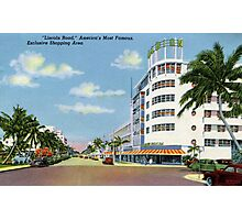 Fifties style Miami Lincoln road Exclusive shopping Photographic Print