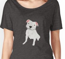 Shiny, Happy Pitbull Smiling BIG Women's Relaxed Fit T-Shirt