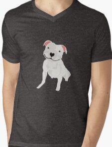 Shiny, Happy Pitbull Smiling BIG Mens V-Neck T-Shirt