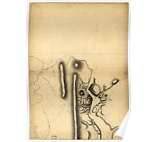 American Revolutionary War Era Maps 1750-1786 639 Part of a map of the Hudson Highlands showing Forts Clinton and Montgomery Poster