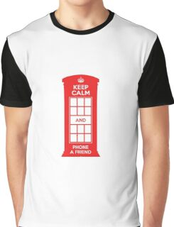 Keep calm and phone a friend. UK London Graphic T-Shirt
