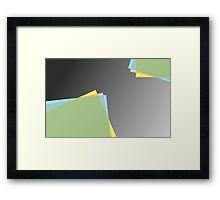 Modern material design Framed Print