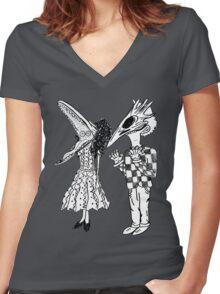 beetlejuice beetlejuice beetlejuice Women's Fitted V-Neck T-Shirt