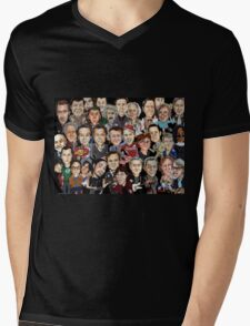 CARICATURE MIX! Mens V-Neck T-Shirt