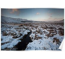 winter by loch muick Poster