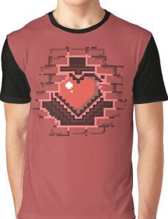 Bricked up - 8-bit Heart shirt Graphic T-Shirt