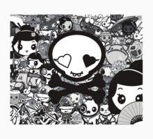 mikoto's Black & White Kids Tee
