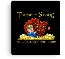 Trump and Smaug: An Unexpected Friendship Canvas Print