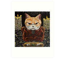 Meowlister Crowley Art Print