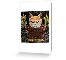 Meowlister Crowley Greeting Card