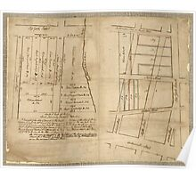 American Revolutionary War Era Maps 1750-1786 024 A Draught of ten lots of ground in the northern liberties of the city of Philadelphia surveyed the 28th Poster