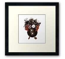 Funky Hipster Colorful Art Analog Media Abstract Vibrant Silly Funny OMG LOL  Framed Print