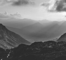 Total freedom - black and white landscape photography Sticker
