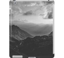 Total freedom - black and white landscape photography iPad Case/Skin