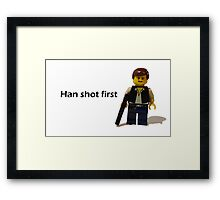 Han shot first Framed Print