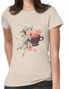 Tea Cup Design Womens Fitted T-Shirt