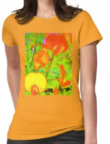 Colorful snapdragons Womens Fitted T-Shirt