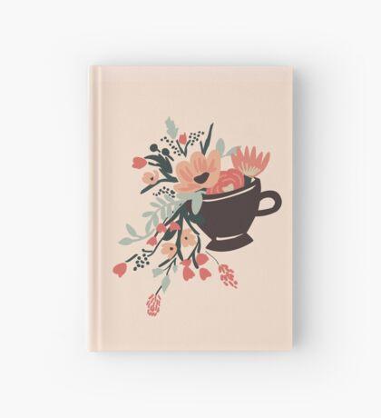 Tea Cup Design Hardcover Journal