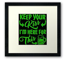 Funny St Patrick's Day Beer Drinking Humor Framed Print