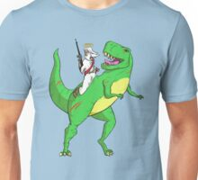 Jesus Riding a Dinosaur Unisex T-Shirt