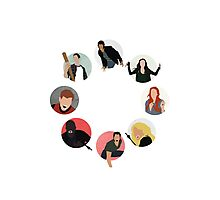 Teen Wolf Pack Graphic (Circles Only Version) Photographic Print