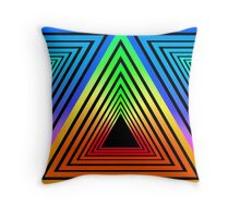 ANGULAR PORTAL NEON RETRO Throw Pillow