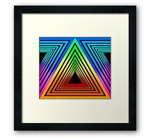 ANGULAR PORTAL NEON RETRO Framed Print