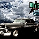 Stormy Chevy at Roy's on Route 66 by ChasSinklier
