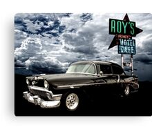 Stormy Chevy at Roy's on Route 66 Canvas Print