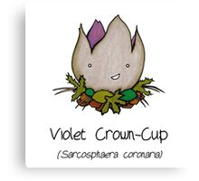 Violet Crown-Cup (with smiley face ;)  Canvas Print