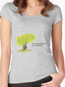 Calvin is a procrastinator Women's Fitted Scoop T-Shirt