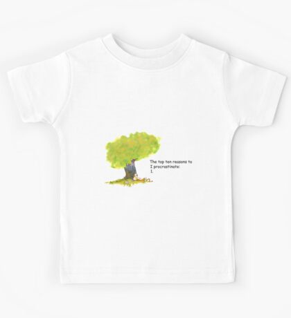 Calvin is a procrastinator Kids Tee