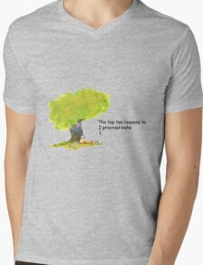 Calvin is a procrastinator Mens V-Neck T-Shirt