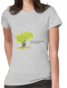 Calvin is a procrastinator Womens Fitted T-Shirt