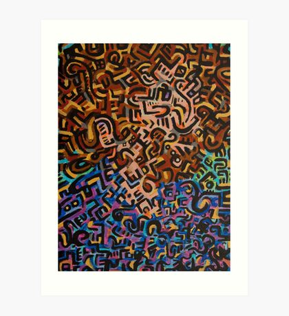 Abstract Criminal No.1 Art Print