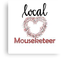 Local Mouseketeer Canvas Print