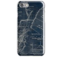 268 Topographical map showing the location of Big Hill iron lands Botetourt Co Va Inverted iPhone Case/Skin