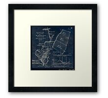 268 Topographical map showing the location of Big Hill iron lands Botetourt Co Va Inverted Framed Print