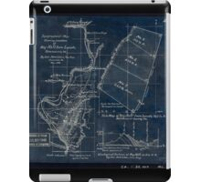 268 Topographical map showing the location of Big Hill iron lands Botetourt Co Va Inverted iPad Case/Skin