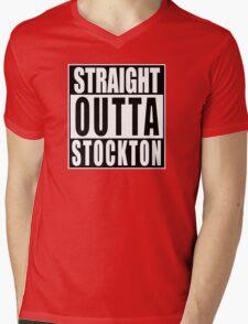 Straight Outta Stockton Mens V-Neck T-Shirt