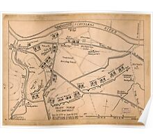 American Revolutionary War Era Maps 1750-1786 980 Valley Forge encampment Dec 19 1777 to June 18 1778 Poster