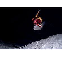 Snowboarder jumping Photographic Print