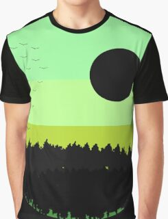 Black shades on the forest Graphic T-Shirt