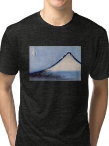 'Mount Fuji 2' by Katsushika Hokusai (Reproduction) Tri-blend T-Shirt
