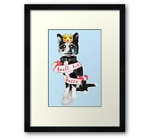 'Small but sassy' cat collage Framed Print