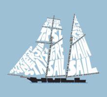 Tops'l Schooner Sail/Spar Plan Kids Tee