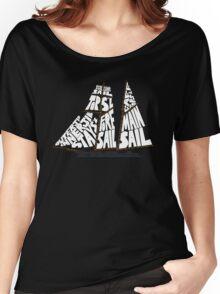 Tops'l Schooner Sail/Spar Plan Women's Relaxed Fit T-Shirt