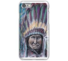 Geronimo with headdress colorful pastel iPhone Case/Skin