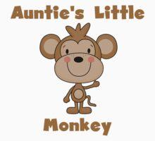 Kids Auntie's Little Monkey One Piece - Long Sleeve